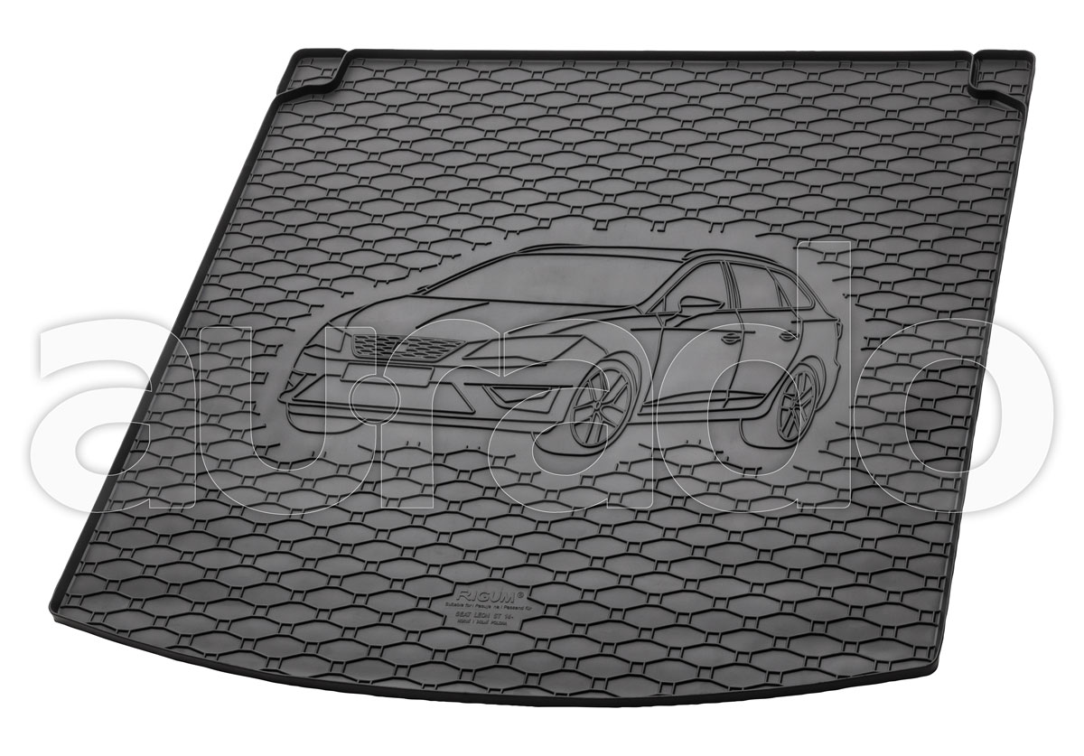 ab 2014 PREMIUM Kofferraumwanne Kofferraummatte SEAT Leon III Schrägheck Bj